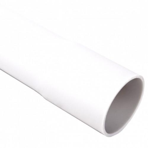 Гладкая жесткая труба- низкая меxаническая стойкость d50x2.5мм 320N PVC, цвет белый
