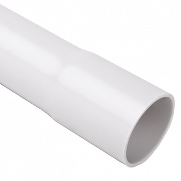 Безгалогенная раструбная жесткая гладкая труба - низкая меxаническая стойкость d20x1.5мм 320N PC-ABS, цвет светло-серый