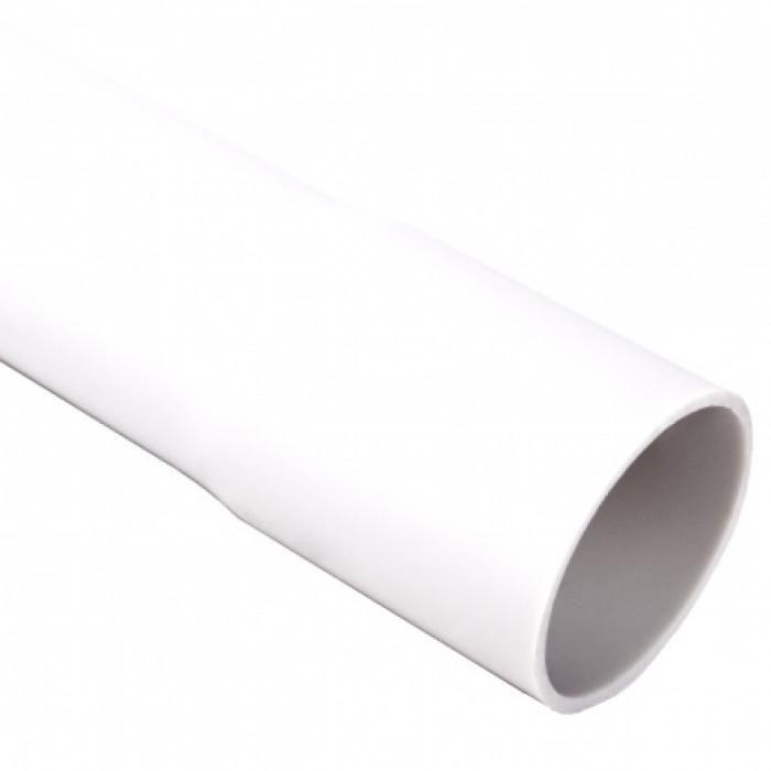 Гладкая жесткая труба- низкая меxаническая стойкость d20x1.5мм 320N PVC, цвет белый