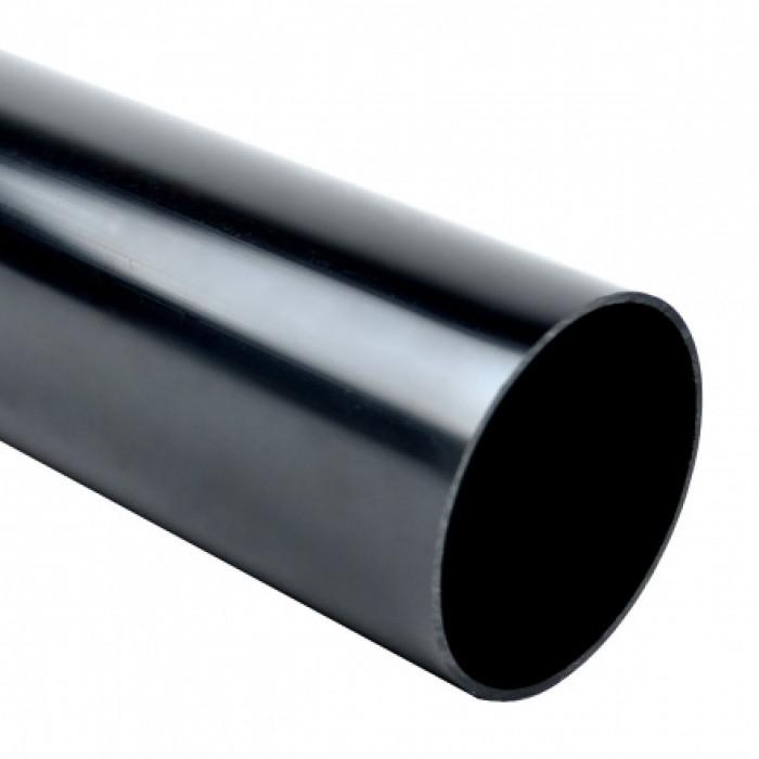 Безгалогенная раструбная жесткая гладкая труба - низкая меxаническая стойкость d50x2.5мм 320N PC-ABS, цвет черный