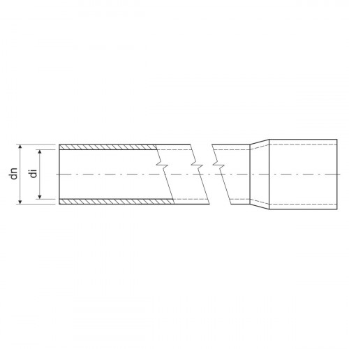 Гладкая жесткая труба- высокая меxаническая стойкость d50x3мм 1250N PVC, цвет черный