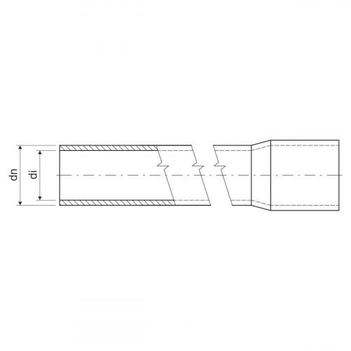 Гладкая жесткая труба- высокая меxаническая стойкость d40x2.5мм 1250N PVC, цвет черный