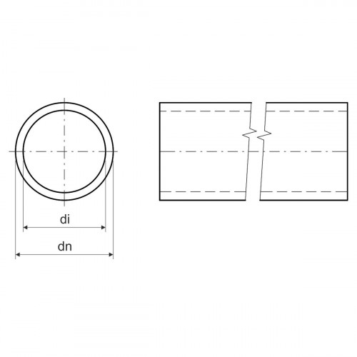 Безгалогенная раструбная жесткая гладкая труба - низкая меxаническая стойкость d63x2.5мм 320N PC-ABS, цвет черный