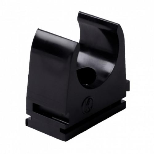 Крепление для безгалогенных EN труб, d16мм, PC-ABS, черный