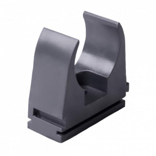 Крепление для EN труб, d16мм, PVC, темно-серый