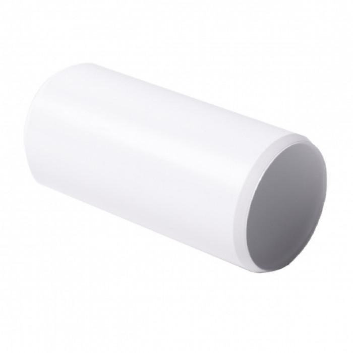 Соединитель для EN труб, d63мм, PVC, белый