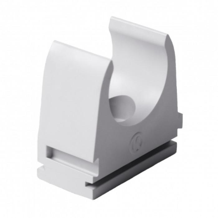 Крепление для безгалогенных EN труб, d25мм, PC-ABS, светло-серый