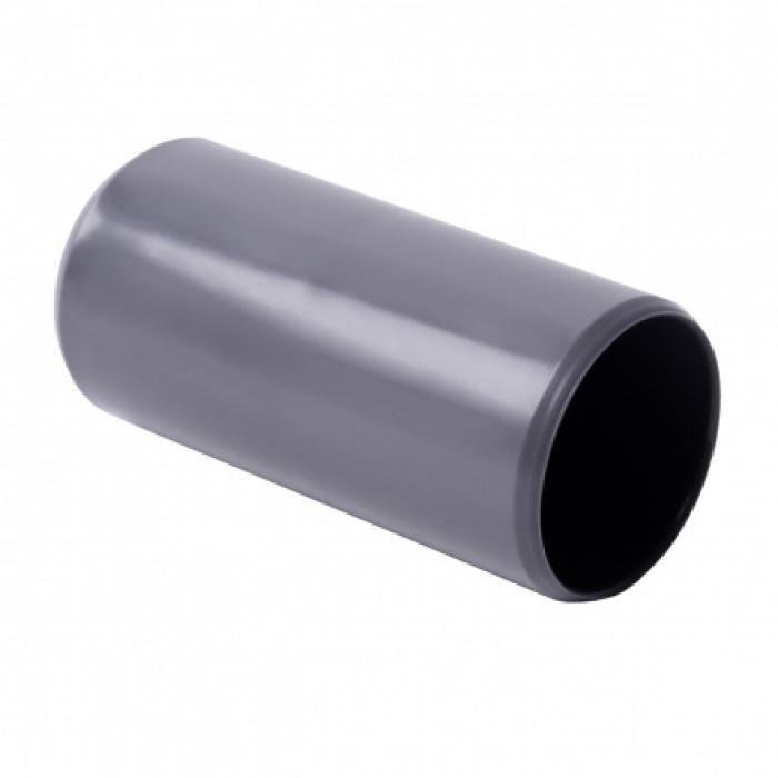 Соединитель для EN труб, d16мм, PVC, темно-серый