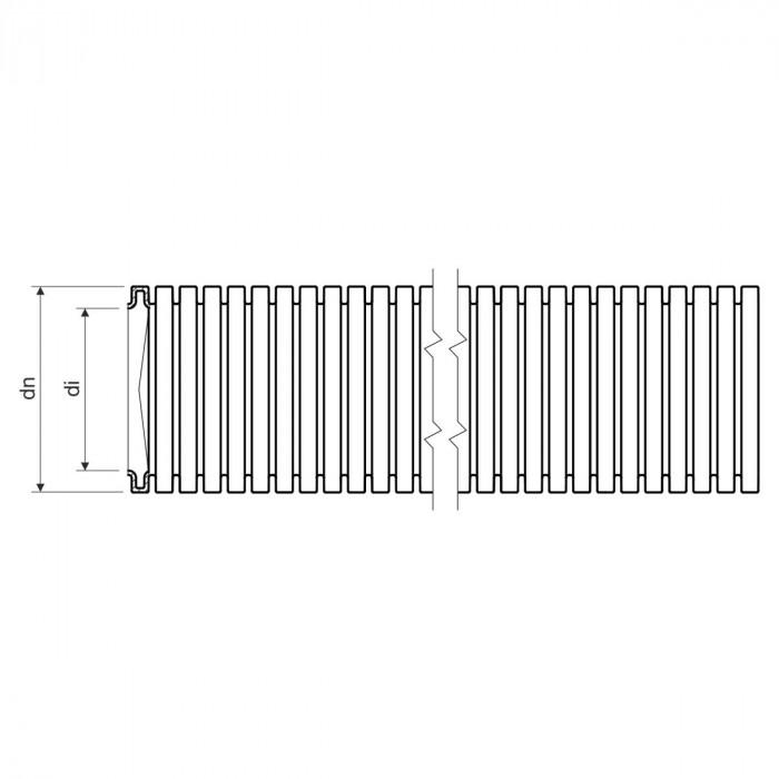Гофротруба MONOFLEX PP - низкая механическая стойкость dном 25мм 320N PP
