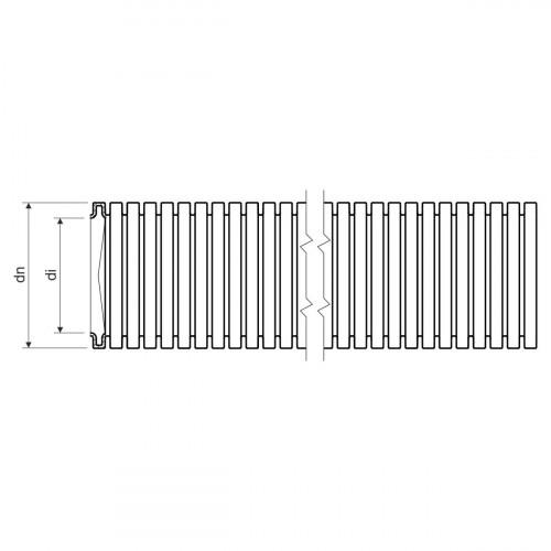 Гофротруба MONOFLEX PP - низкая механическая стойкость dном 40мм 320N PP