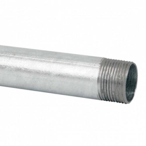 Стальная безрезьбовая труба, с резьбовой муфтой, горячее оцинкование (EN) d63x1.2мм KOPOS