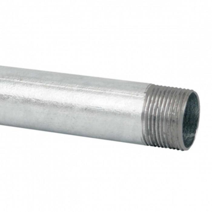 Стальная безрезьбовая труба, с резьбовой муфтой, горячее оцинкование (EN) d40x1.2мм
