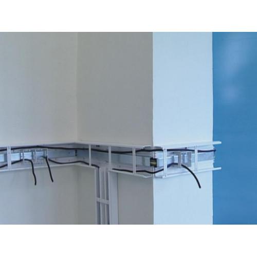 Электромонтажный кабель-канал, размер 180X60, цвет белый