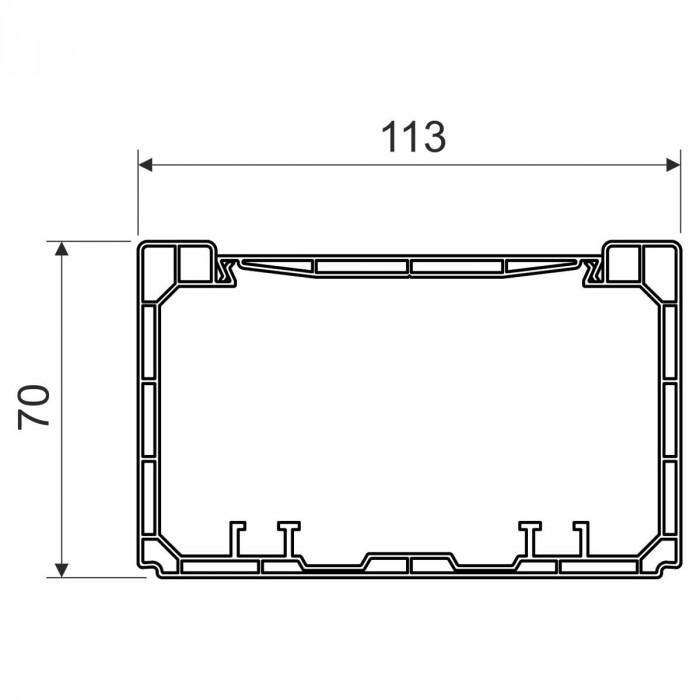 Кабель-канал парапетного типа, размер 110X70, цвет белый