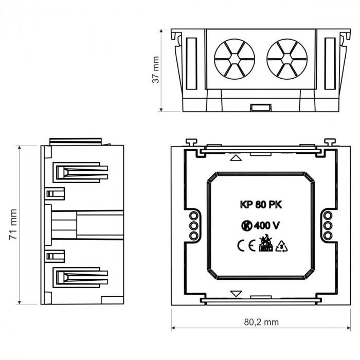 Установочная рамка для кабель-каналов серии pk, размер 80, цвет белый