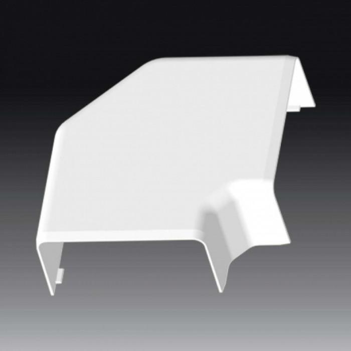 Плоский угол к кабель-каналу 80х40, цвет белый
