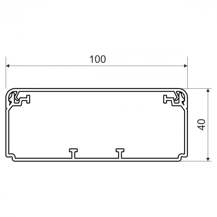 Электромонтажный кабель-канал, размер 100X40, цвет белый