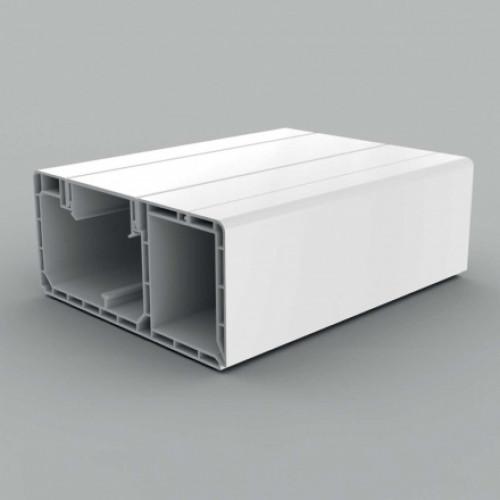 Кабель-канал парапетного типа, размер 120X55, цвет белый