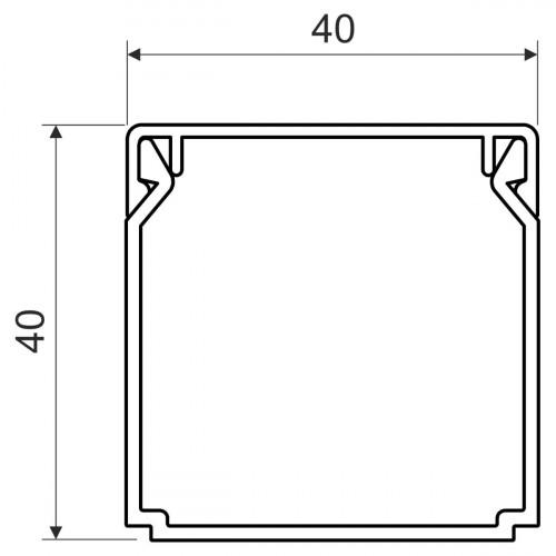 Безгалогенный кабельный канал, размер 40X40, цвет белый