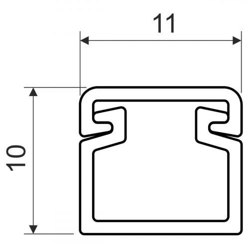 Кабельный канал, размер 11X10, цвет белый
