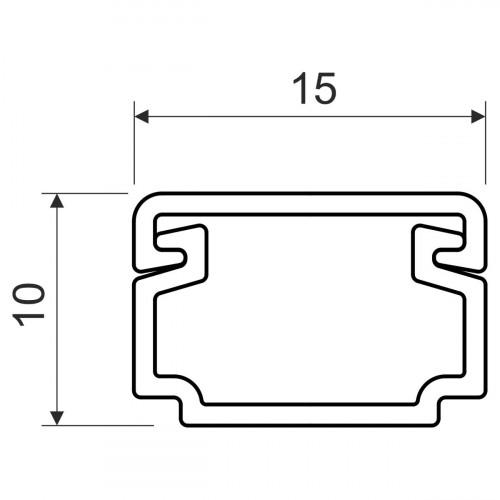 Кабельный канал, размер 15X10, цвет белый