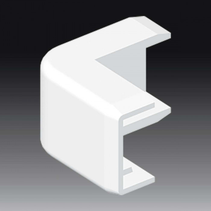 Внешний угол к кабель-каналу 20х10, цвет белый