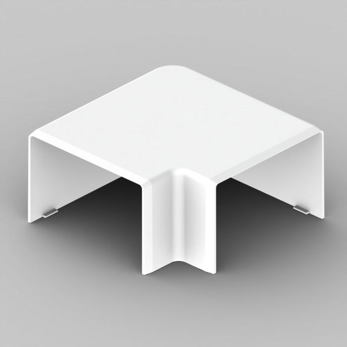 Плоский угол к кабель-каналу 60х40, цвет белый
