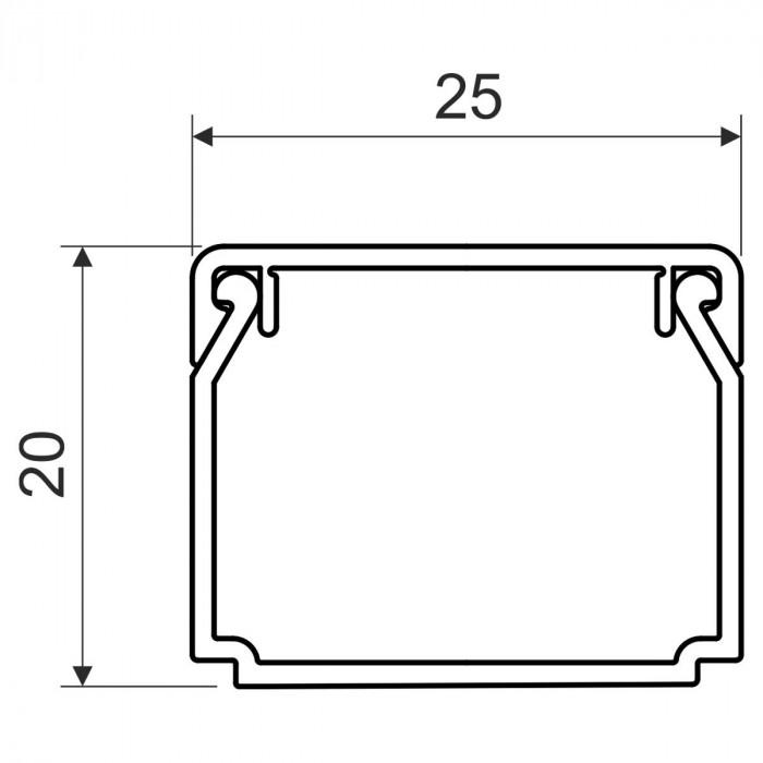 Кабельный канал, размер 25X20, цвет белый