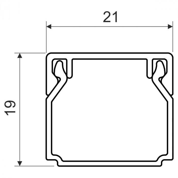 Кабельный канал, размер 20X20, цвет