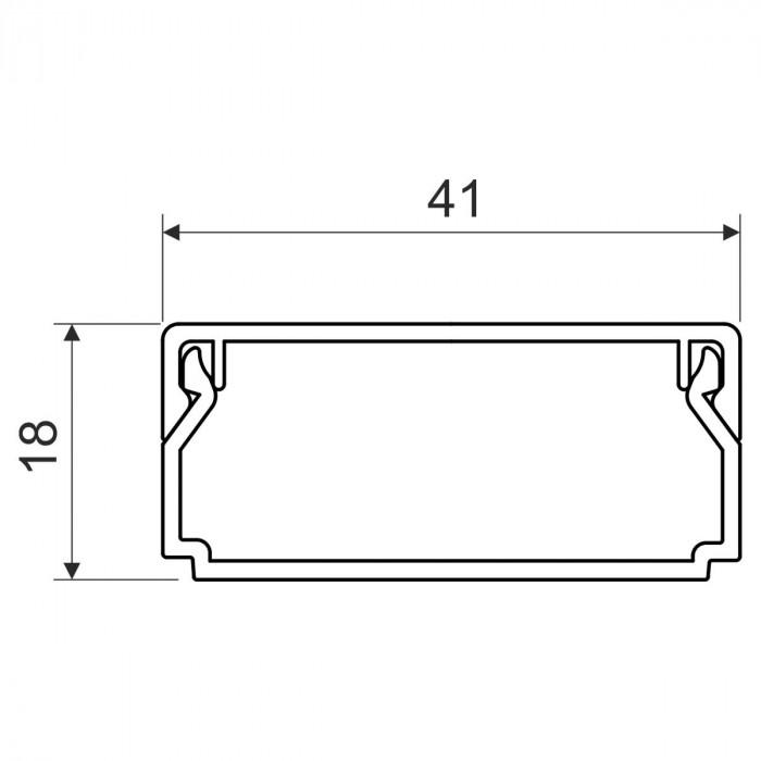 Кабельный канал, размер 40X20, цвет