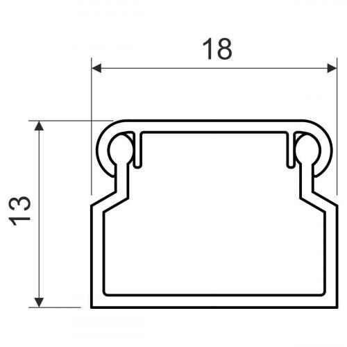 Кабельный канал, размер 18X13, цвет белый