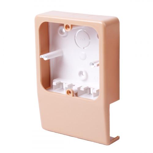 Распределительная коробка для lhd 40x20 (имитация текстуры дерева), цвет светлая береза