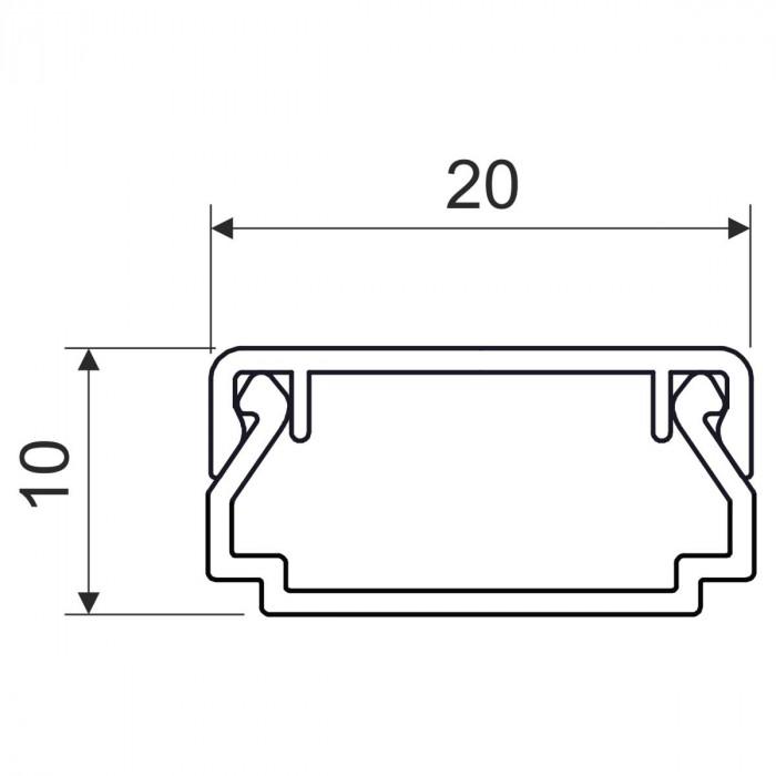 Кабельный канал, размер 20X10, цвет белый