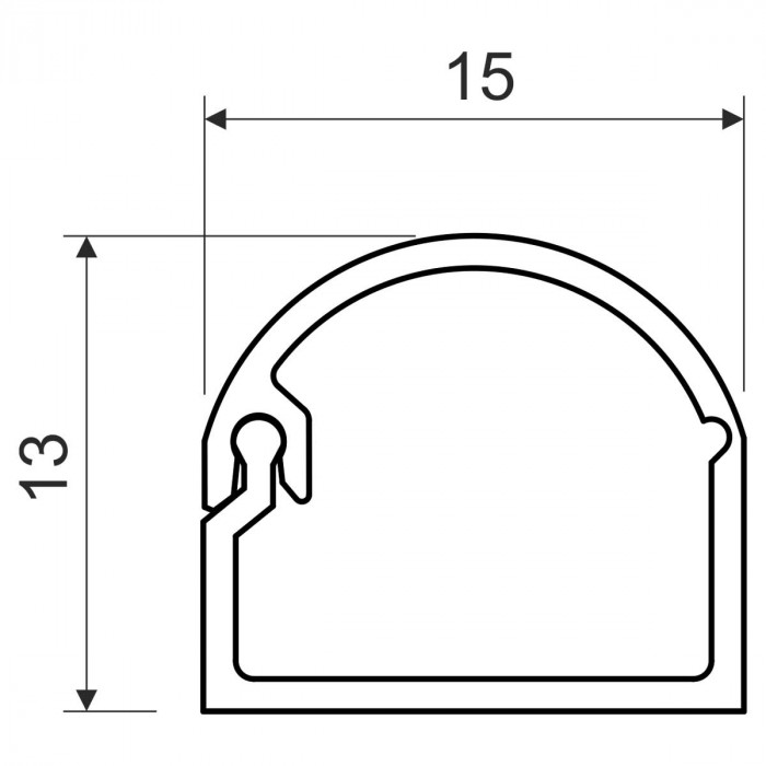 Открывающийся канал, размер 15X12, цвет белый