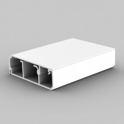 Напольный канал, размер 80X25, цвет белый