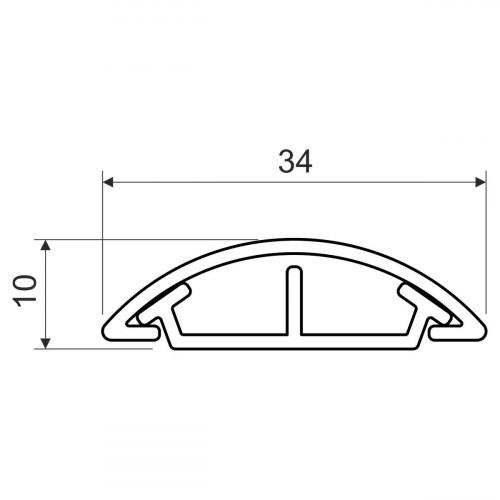 Напольный канал, размер 35, цвет серый