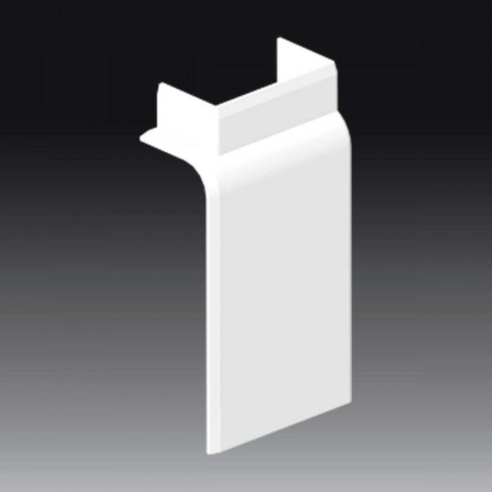 Плоский угол к кабель-каналу 80х25, цвет белый