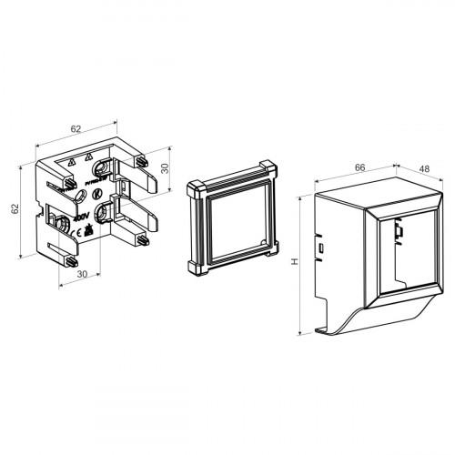 Распределительная коробка для модулей 45х45 quadro, цвет белый