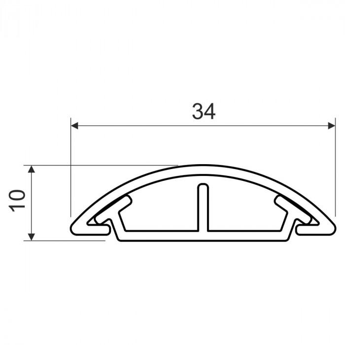 Напольный канал, размер 35, цвет белый