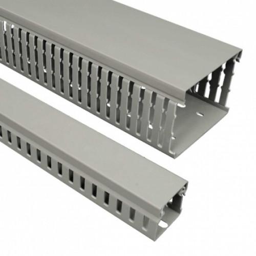 Перфорированный канал, размер 37X75, цвет серый