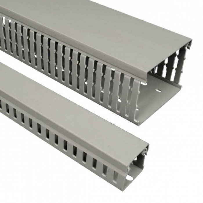 Перфорированный канал din, размер 50X50, цвет серый
