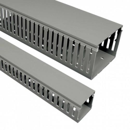 Перфорированный канал, размер 60X80, цвет серый