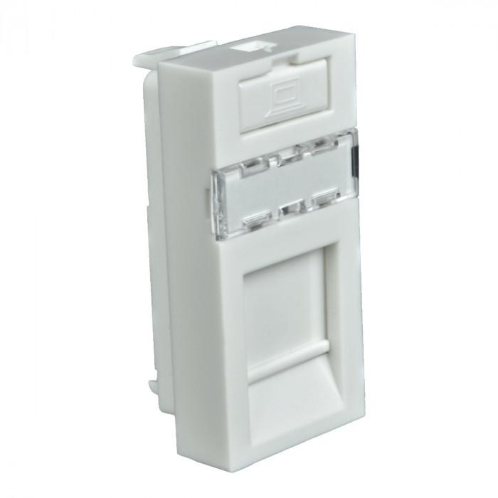 Модульная инф. розетка holder quadro (hb) белая