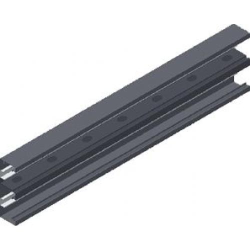 Двухсекционный настенный канал (лакированный) KSd 215x68x1.0мм, длина 2м
