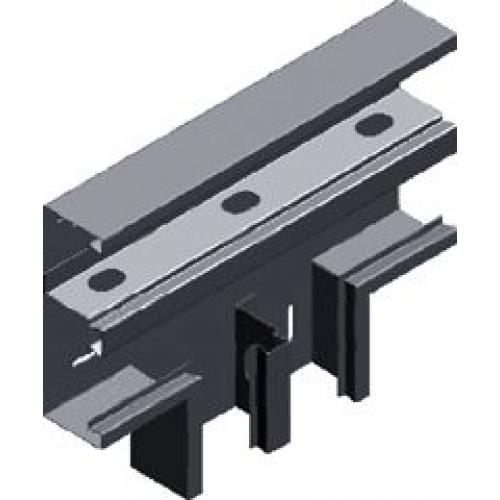 Двухсекционный тройник настенного канала (лакированный) TSKSd 215x68x1.0мм