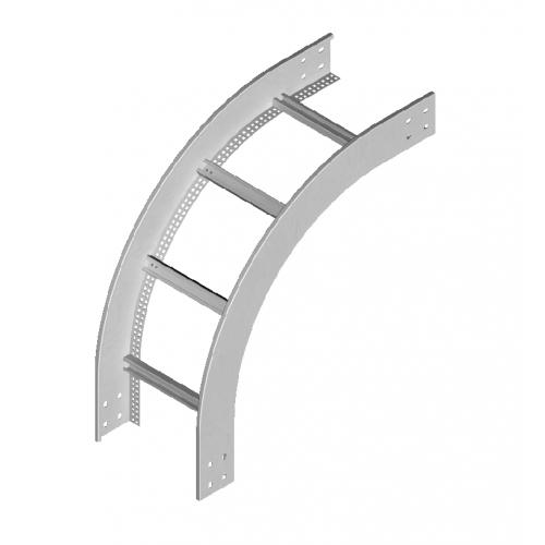Вертикальная внешняя дуга кабельроста LPDZC 600x100x2.0мм