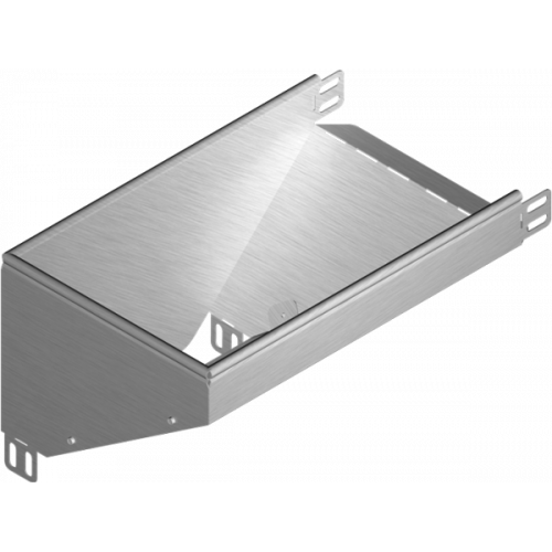 Левый редукционный угол KRLBJ 400x42x1.0мм
