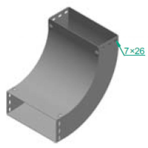 Дуга 90° LUPP 600x110x1.5мм