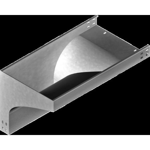 Левый редукционный угол KRLZC 200x50x2.0мм
