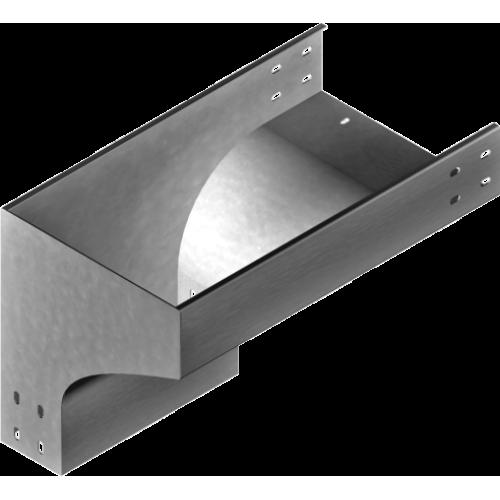 Левый редукционный угол KRLZP 300x100x1.5мм